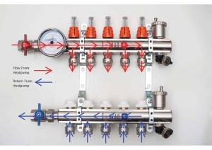 Heatpump manifold (flow direction non editable)