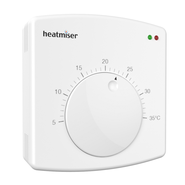 Heatmiser DS1 Easy to use dial therostat for underfloor heating systems