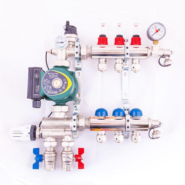 Pre Assembled Underfloor Heating Manifold from UK Underfloor Heating