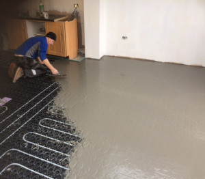 Covering the screed panels