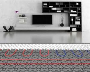 Screed panel underfloor heating