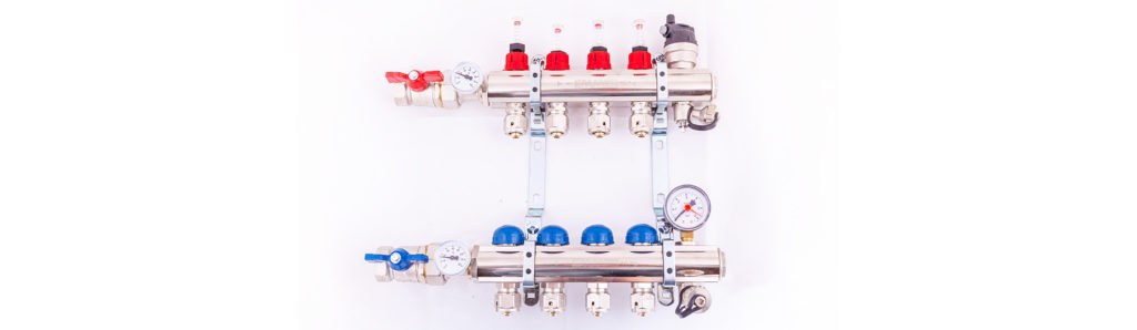 Multi-zone underfloor heating system manifold