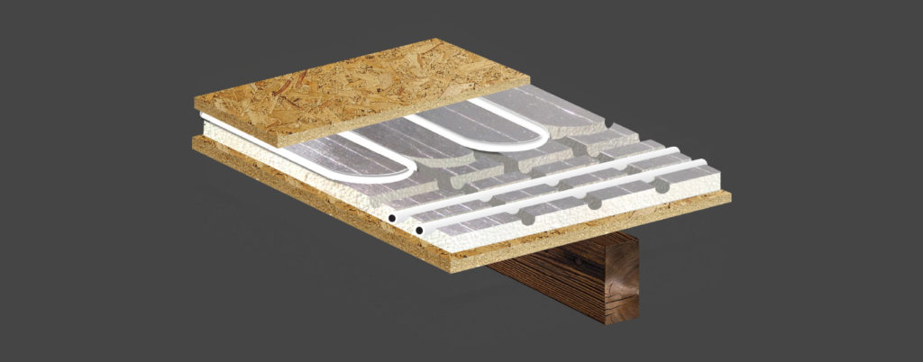 underfloor heating panels allow ufh to be installed on all floor constructions