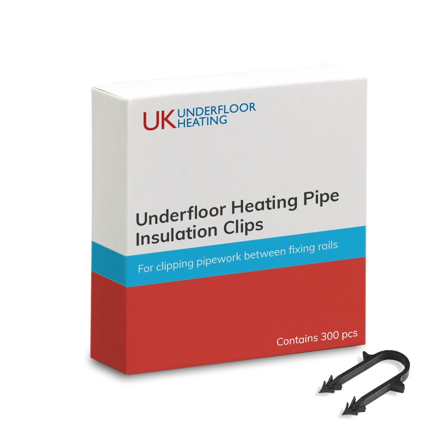 Underfloor heating insulation clips