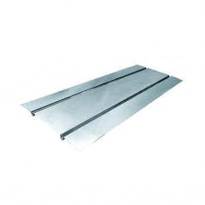Aluminium heat transfer plate for underfloor heating