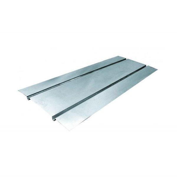 Aluminium heat transfer plate for underfloor heating