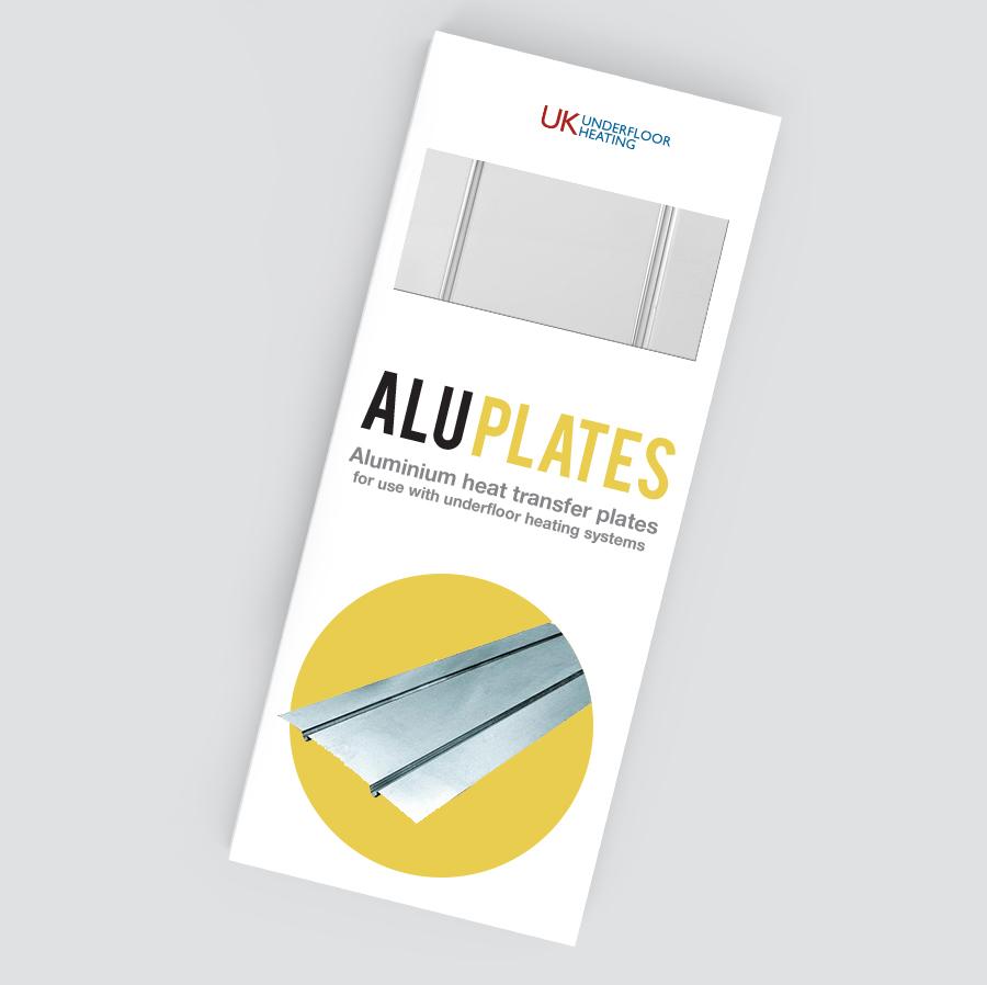 Underfloor heating aluminium plates